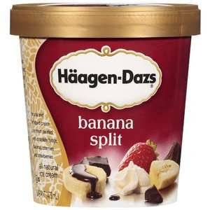 Haagen Dazs Banana Split Ice Cream, 1pt Frozen Foods
