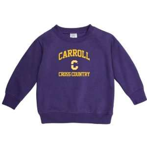 Carroll College Fighting Saints Purple Toddler Cross Country Arch