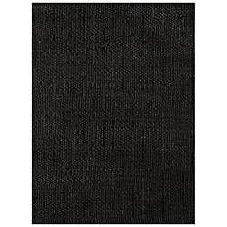 Hand woven Black Jute Rug (6 x 9)