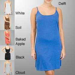 AtoZ Womens Spaghetti Strap Slip Dress