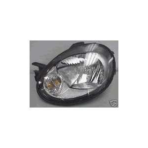 Driver Side Headlight Headlamp 2003 2004 Dodge Neon Black Background