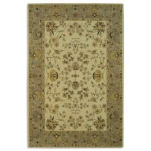 Bergama Area Rug in Ivory & Light Gray   6 Round