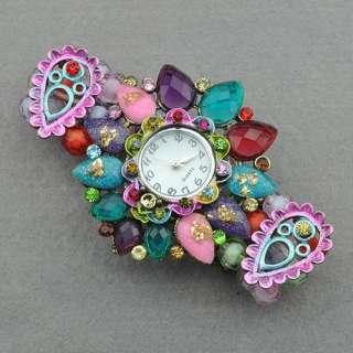 Swarovski Crystal Vintage CZ Cool Bangle Watch Ad1085