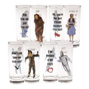 The Wizard of Oz Collector Glass Set (Set of 4) Kitchen