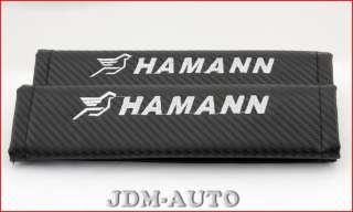 BMW Ha mann Carbon Fiber Style Racing Seat Belt Shoulder Pads Cushion