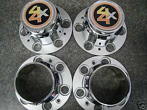 CHEVY GMC 4X4 PICKUP 6 LUG RALLY WHEEL CENTER CAPS NEW