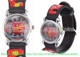 Disney Pixar Car Children Kids Leather Wrist Watch Gift