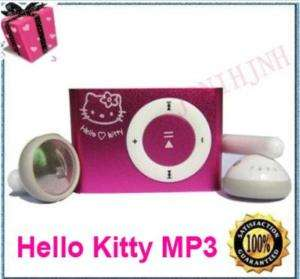 Hello Kitty Clip  Player For 2G 4G TF Card pink Gift