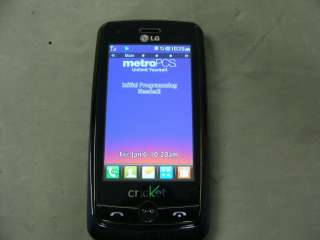 LG BANTER RUMOR TOUCH SCREEN MN510 LN510 CELL PHONE QWERTY BLACK/BLUE