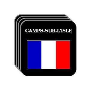 France   CAMPS SUR LISLE Set of 4 Mini Mousepad Coasters