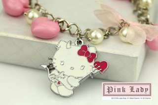 KJ35 Cute Hello Kitty Charm Pendant Earrings
