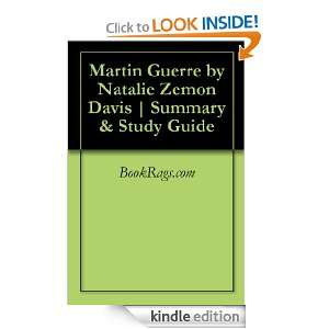Martin Guerre by Natalie Zemon Davis  Summary & Study Guide BookRags