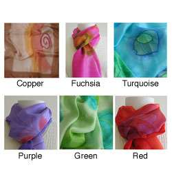 Hand dyed Silk Scarf (India)