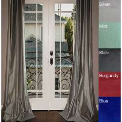 Grommet Top 84 inch Textured Faux Silk Curtain Panel