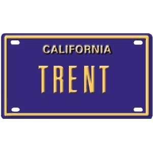 Trent Mini Personalized California License Plate