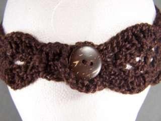 Brown flower ear warmer muff knit head wrap hat headband crochet 5