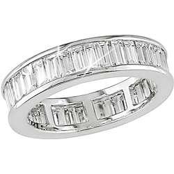 18k White Gold 3ct TDW Diamond Eternity Ring (G H, VS1)