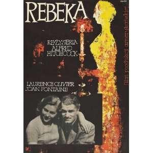 Rebecca Poster Polish 27x40 Joan Fontaine Laurence Olivier Judith