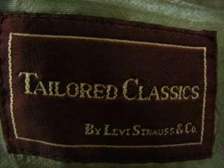 mens wool jacket blazer Tailored Classic Levi Strauss gray M 40L 40 L
