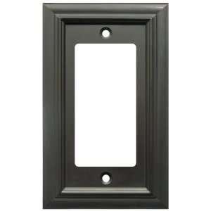 Bronze   Continental Design Single Decora Rocker Switch Wall Plate