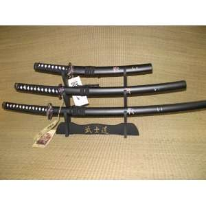 Last Samurai Sword Set (Black) Samurai 3pc Sword Set
