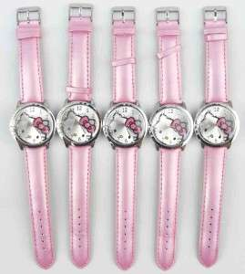 pcs Pink Hello Kitty Crystal wrist watch Clock Wholesale Lot of Xmas