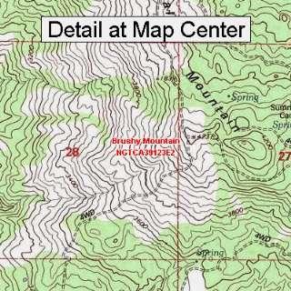 USGS Topographic Quadrangle Map   Brushy Mountain