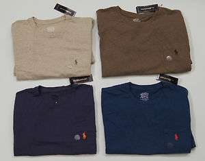 POLO RALPH LAUREN Men Crew Neck Pocket Front Logo T Shirts NEW NWT $39