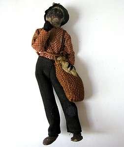 Original American Slave Doll antique african american black history