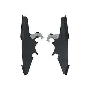 MEMPHIS SHADES TRIGGER LOCK PLATE ONLY KIT FOR BATWING FAIRING   BLACK