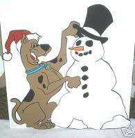 SCOOBY BUILDING A SNOWMAN CHRISTMAS YARD DECORATION