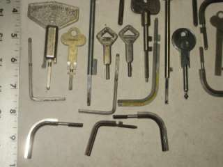 28 Antique Vintage Old Safe Combination Change Keys