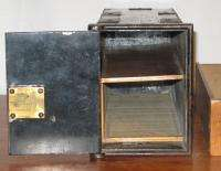 Antique Victorian Wall Safe Bank Safety Deposit Lock Box Drawer Safe w