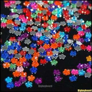 New 1000 Flower Glitter Crystal Nail Art Rhinestones