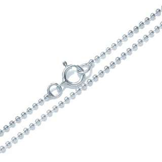 2MM Sterling Silver Ball Chain Necklace 14   30 in.