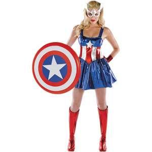 Captain America Dream Deluxe Adult Halloween Costume Halloween
