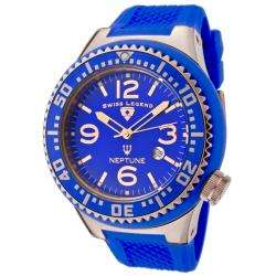 Swiss Legend Mens Neptune Blue Dial Blue Rubber Watch  Overstock