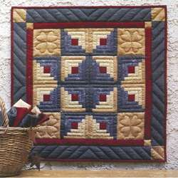 Log Cabin Star Wallhanging Quilt Kit  Overstock