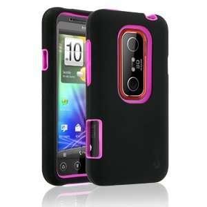 Rapture Elite 42 0130018R Black/Pink Snap On Case for HTC EVO 3D