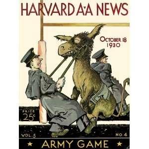 1930 Harvard Crimson vs. Army Black Knights 22 x 30 Canvas