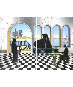 Jazz Piano Mirrored Wall Art