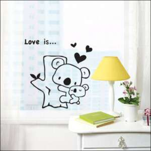 LOVE KOALA Vinyl Wall/Window Art Decor Sticker SG 29
