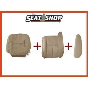 03 04 05 06 Chevy Tahoe GMC Shale Leather Seat Cover