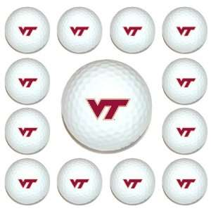 Tech Hokies Team Logo Golf Ball Dozen Pack   Golf