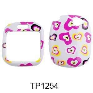 For Verizon Sharp Kin 1 Accessory   Pink Heart Designer