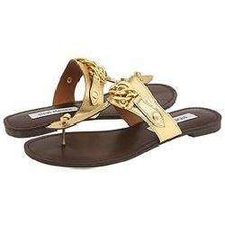 Steve Madden Sarrahh Gold Leather Sandals
