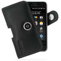 Black H Pouch Leather Case fit Garmin Asus nuvifone M10