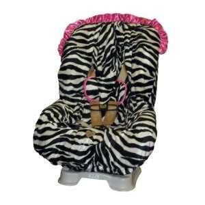Zoe Zebra with Pink Ruffle TODDLER CAR SEAT COVER Baby
