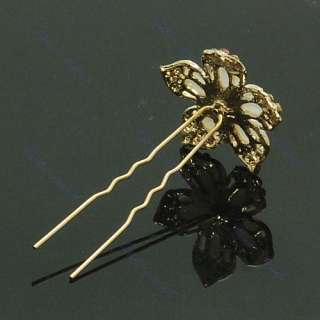 Hot Fashion Cute Crystal Flower Wedding Bridal Hair Pin