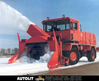 1995 RPM Tech Rotary Snow Plow Truck Brochure Canada